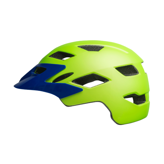 Bell Sidetrack Youths Helmet Bright Green/Blue