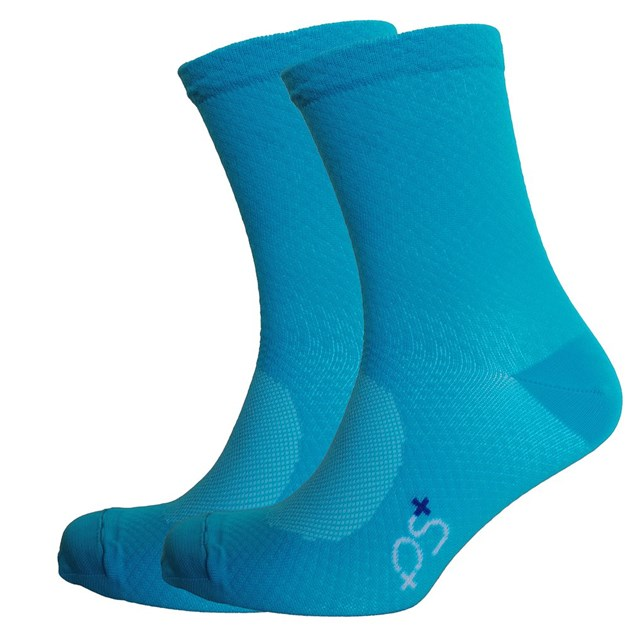 PS+ Diamond High Cuff Sock Cyan