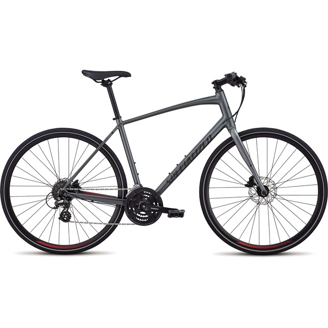 Specialized Mens Sirrus Alloy Disc 2019 Charcoal/Candy Red/Reflective